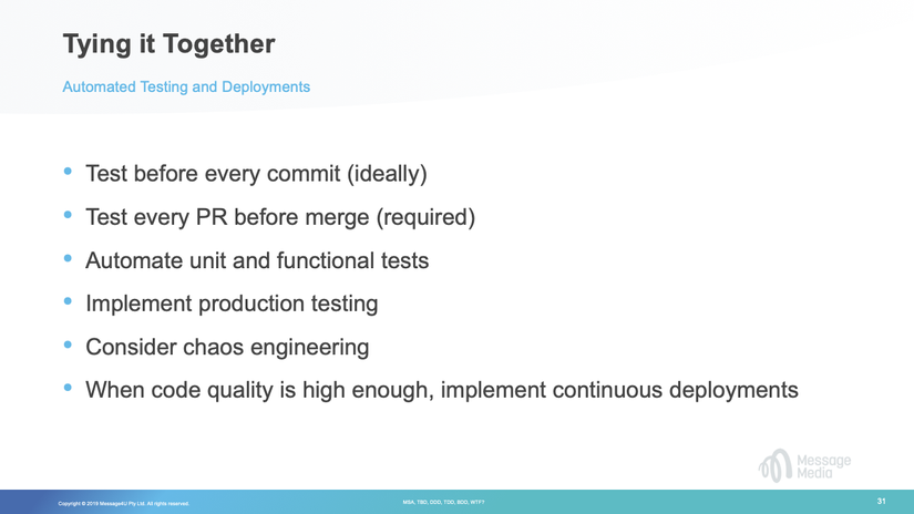 Together - Automated Testing & Deployments slide